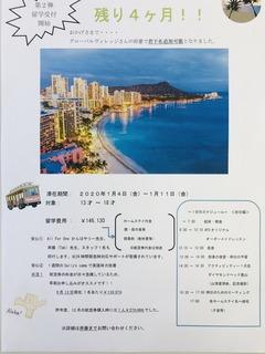 ハワイ 留学 ポスター